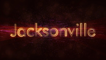 Jacksonville - Shiny looping city name text animation
