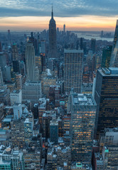Fototapete - New York City skyscrapers, aerial panorama view
