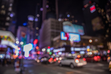 Fototapete - Bokeh background with defocused  lights, New York