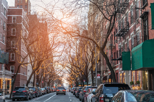Fototapete New York City on Christmas Day