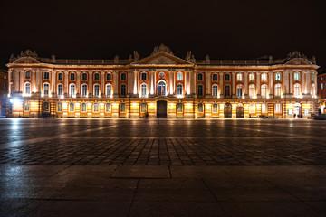Poster de jardin Lieu d Europe Toulouse france evening city