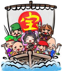 宝船 七福神