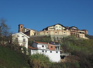 Fototapeta View of the city of Monta D'alba obraz