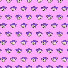 Little girl - emoji pattern 01