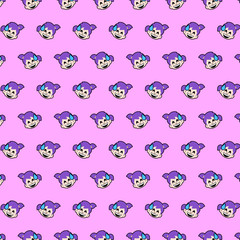 Little girl - emoji pattern 07