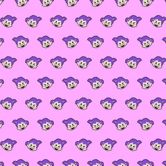 Little girl - emoji pattern 08