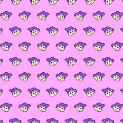 Little girl - emoji pattern 09