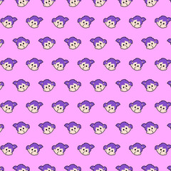 Little girl - emoji pattern 15