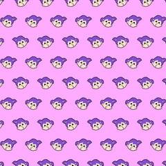Little girl - emoji pattern 16