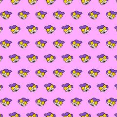 Little girl - emoji pattern 21