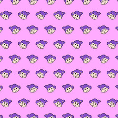 Little girl - emoji pattern 23