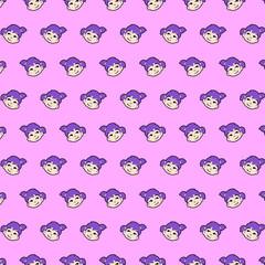 Little girl - emoji pattern 28