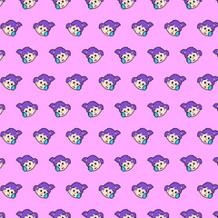 Little girl - emoji pattern 30