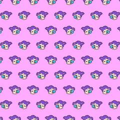 Little girl - emoji pattern 33