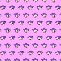 Little girl - emoji pattern 37