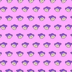 Little girl - emoji pattern 44