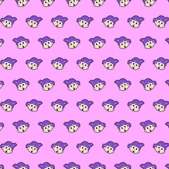 Little girl - emoji pattern 47