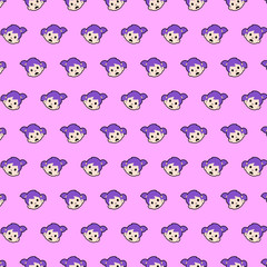 Little girl - emoji pattern 56