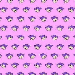 Little girl - emoji pattern 57