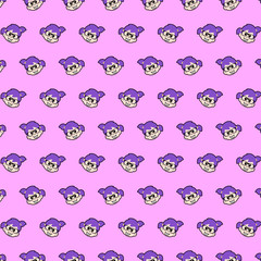 Little girl - emoji pattern 78