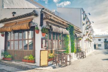 Photo sur Toile Chypre Street of Conil de la Frontera, a beautiful and touristic village in the province of Cadiz, Southern Spain