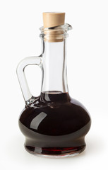 Balsamic vinegar isolated on white background with clipping path