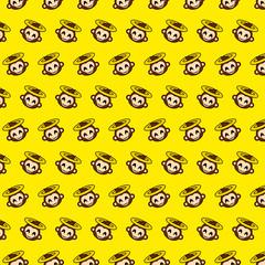 Monkey - emoji pattern 73