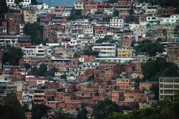 Favelas in Caracas, Venezuela