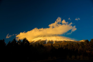Mt. Fuji in Fuji, Japan. Fuji is one of the important cities in Japan for cultures and business markets.