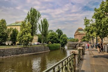 Prag, Uferpromenade