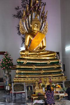 Temple of the Reclining Buddha . Bangkok. Thailand