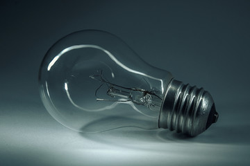 Home light bulb. In anticipation of the light. Great invention. Improving the quality of life