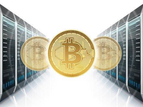 Cryptocurrency farm, illustration
