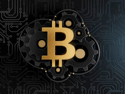 Bitcoin, conceptual illustration
