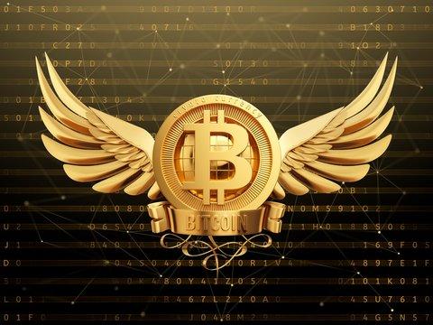 Bitcoin logo, illustration