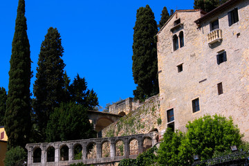 Italien, Verona, Teatro Romano und Convento San Girolamo
