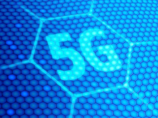 5G symbol, illustration