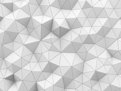 Abstract white polygonal pattern, illustration