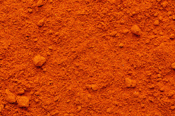 Wall Murals Spices Chili paprika powder ground full frame rough surface
