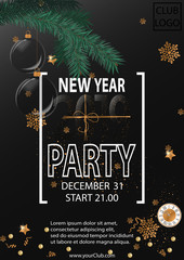 2019 Happy New Year Party Background for your Seasonal Flyers and Greetings Card.