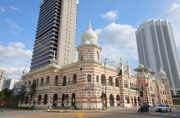 Fotorolgordijn Kuala Lumpur National textile museum Kuala Lumpur Malaysia