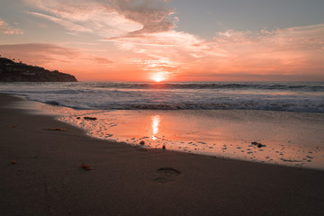 sunset on the beach in Los Angeles