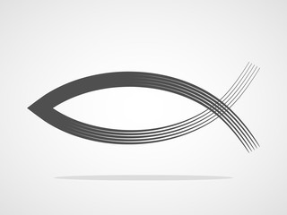 Christian fish symbol. Vector illustration