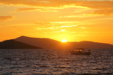 Seaside town of Turgutreis and spectacular sunsets