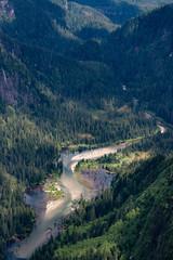 Aerial photos of Alaska Mountains