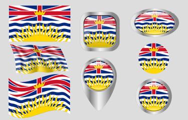 Flag of British Columbia Wall mural