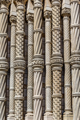 Beautiful, architectural background with columns