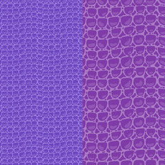 Set seamless pattern. Vector Leather Fashion texture blue purple trandy background. Merry Christmas and New Year luxurious holiday design card.