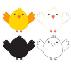 bird worksheet vector design