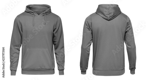 cbd4e1884d1 Blank grey male hooded sweatshirt long sleeve with clipping path ...